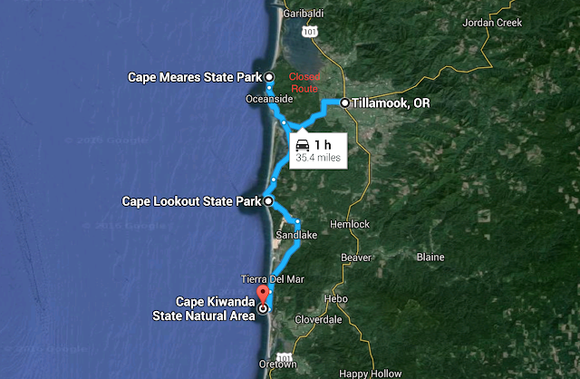 Three Capes Scenic Route Map