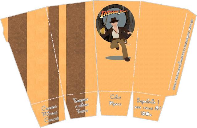 Indiana Jones Free Printable Pop Corn Box.