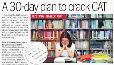 A 30-day plan to crack CAT