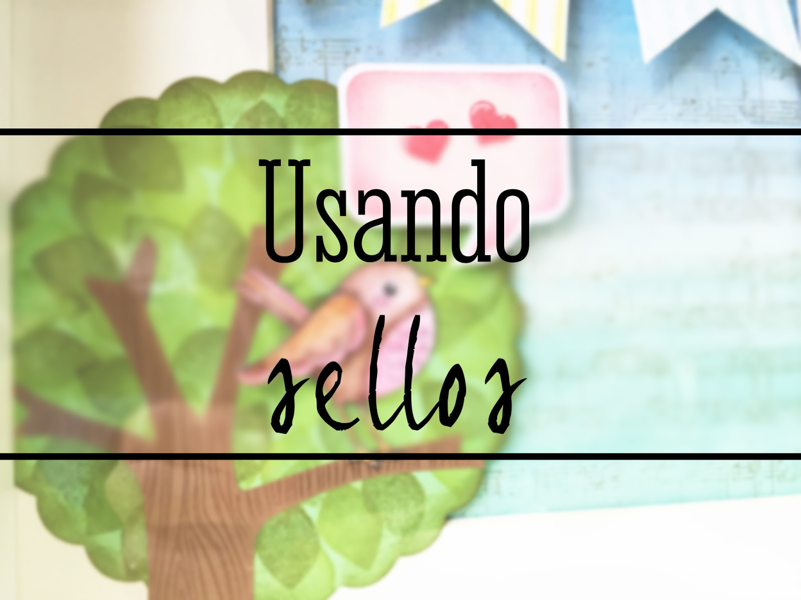 Reto Febrero Up and Scrap: Cuadro infantil con sellos