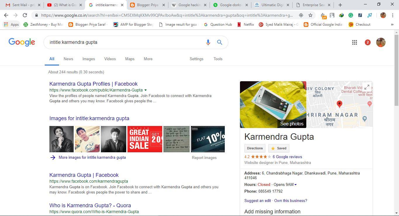 Priya Saraf - We Loves Technology: What Are Google Dorks