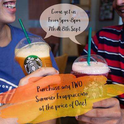 Starbucks Malaysia Summer Frappuccino Buy 1 Free 1 Promo