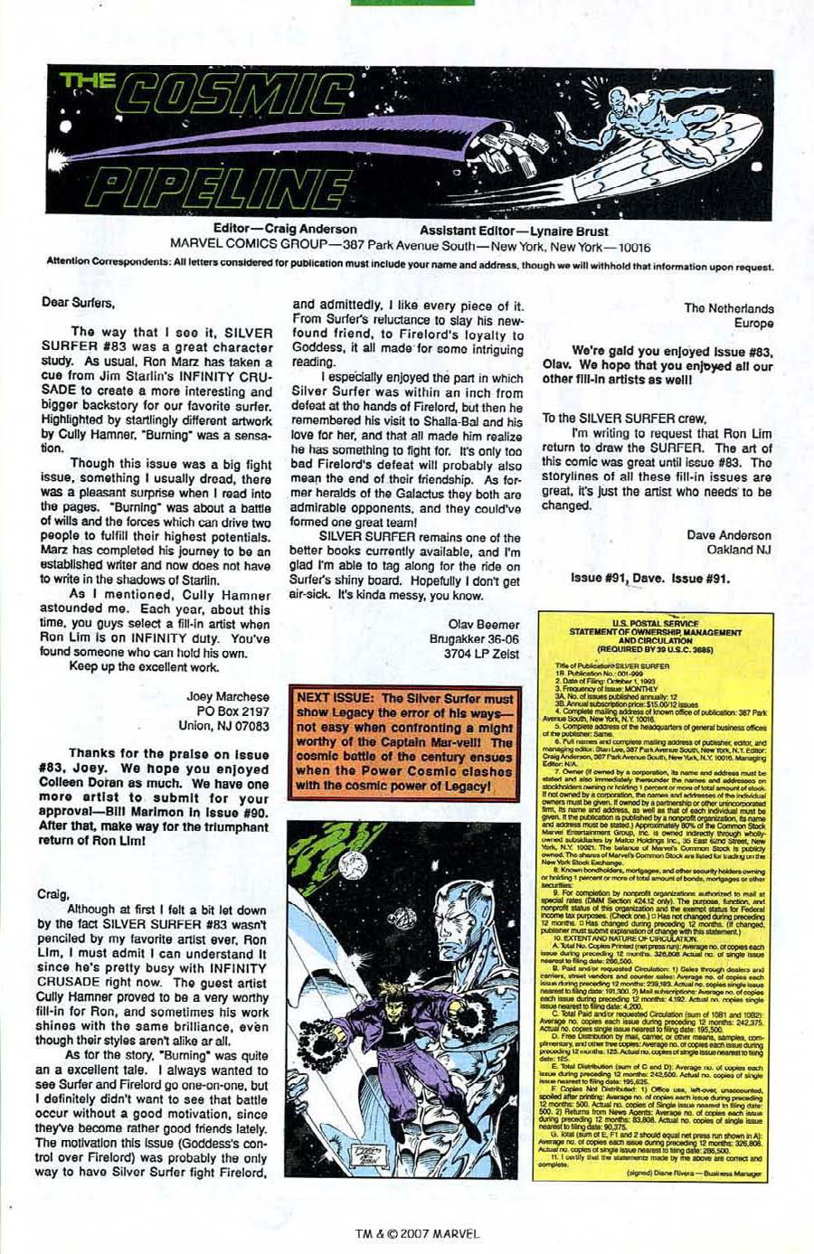 Read online Silver Surfer (1987) comic -  Issue #89 - 33