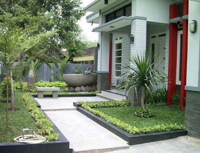 desain interior taman depan rumah