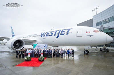 Boeing 787-9 Dreamliner, C-GUDH, WestJet