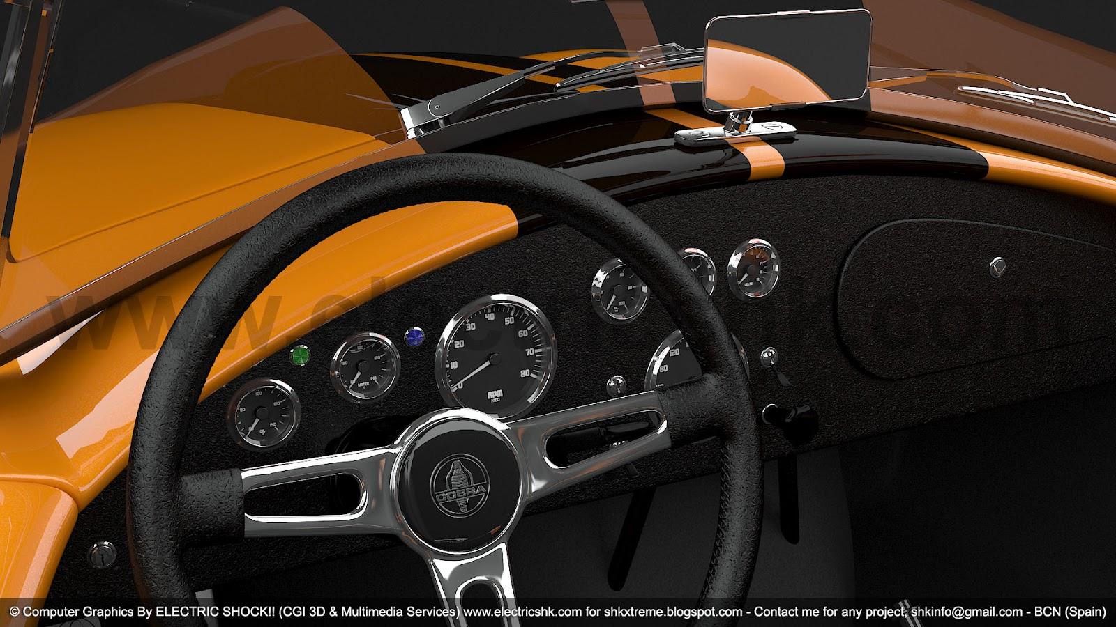Shelby AC Cobra interior Panel de Instrumentos vista izquierda