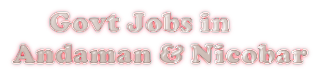 Latest Government Jobs  in Andaman & Nicobar Island - Openings in 2017