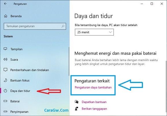 Cara mengubah fungsi saat menutup layar laptop