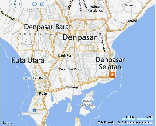 Pantai Cemara or Cemara Beach Sanur Bali Location map,Location map of Pantai Cemara or Cemara Beach Sanur Bali,Cemara Beach Sanur Bali accommodation destinations attractions hotels resorts map reviews photos pictures