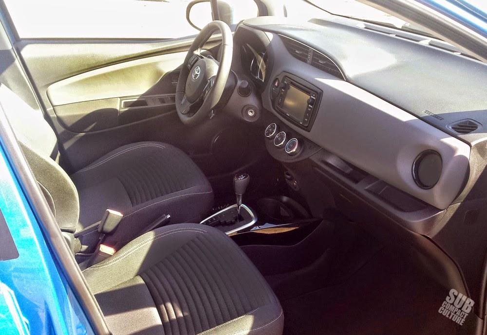 The 2015 Toyota Yaris interior