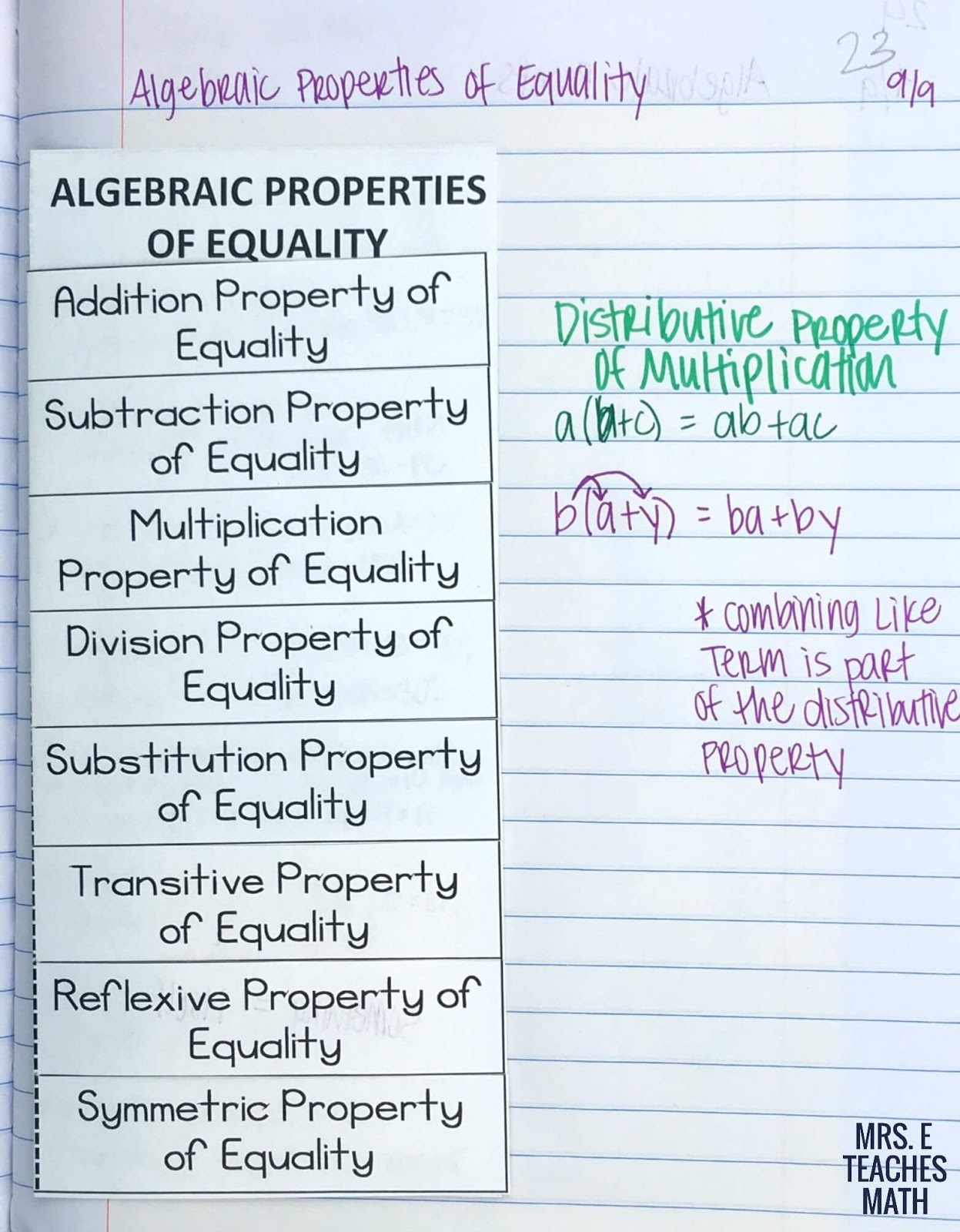 worksheet Algebraic Proofs Worksheet With Answers beginning proofs inb pages mrs e teaches math algebraic properties of equality foldable for geometry interactive notebooks