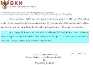 jadwal pendaftaran cpns 2018 diundur
