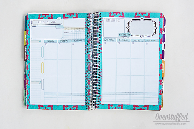 Mom on the Go Planner weekly planning pages.