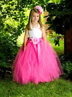 designer long pink girls tutu
