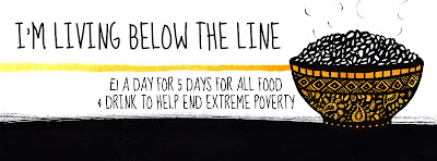 Last day of Live Below the Line – raised £1,217 for Unicef