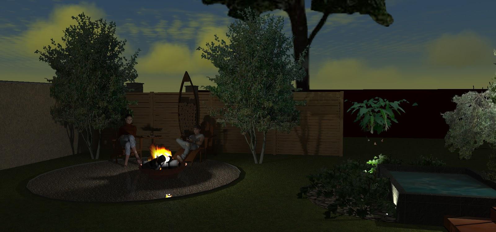 Un coin feu de bois dans votre jardin paysagiste val d - Faire un feu de camp dans son jardin ...