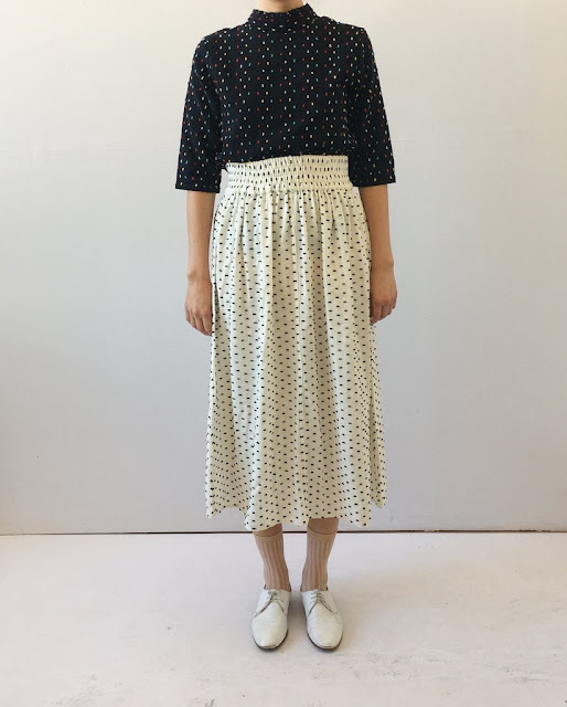 Ace & Jig Ra Ra Midi Skirt in Pearl