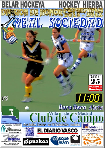 Cartel hockey 2015-10-25 Real Sociedad - Club de Campo