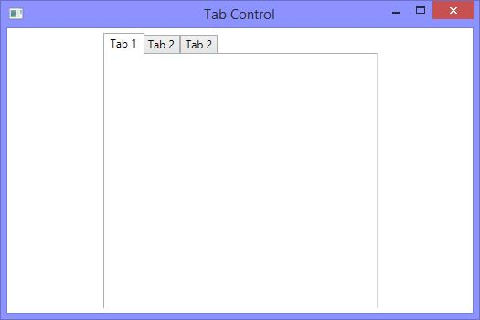 How to add a Tabcontrol in XAML and WPF