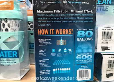 Costco 6661111 - Aquasana Clean Water Bottle Filter Bottle: great quenching your thirst on hot days