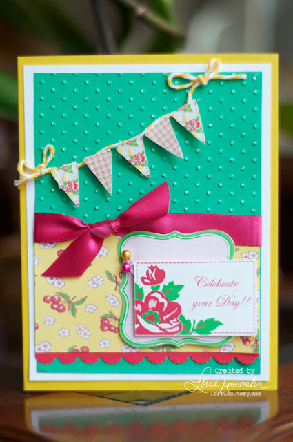 Lorrie S Story Celebrate Card With Silhouette Cameo
