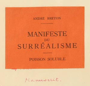 Firmando Goldber Primer Manifiesto Surrealista De André Breton