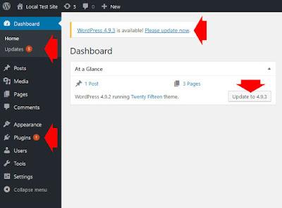 Simpan WordPress dan Komponennya Hingga Tanggal