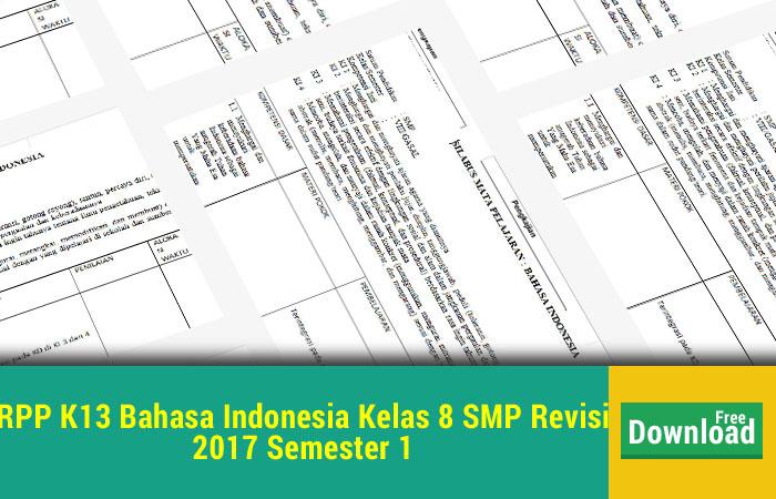 RPP K13 Bahasa Indonesia Kelas 8