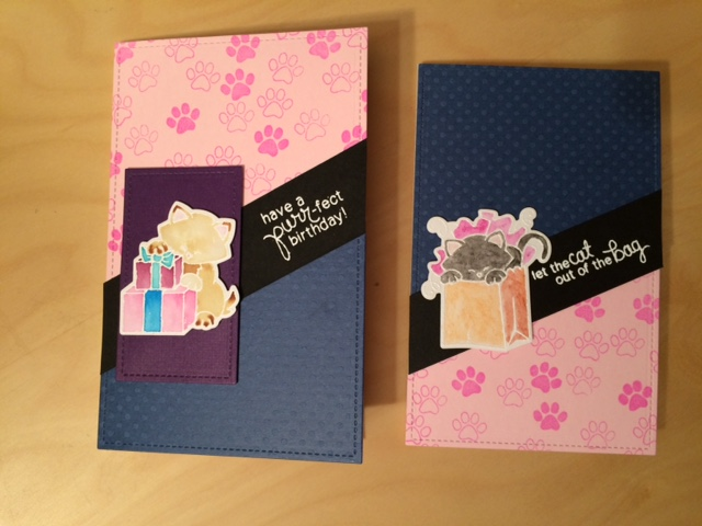 Newton's Nook finished birthday cards
