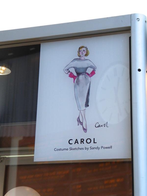Carol movie costume sketch Sandy Powell