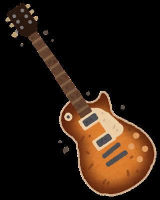 古いギターのイラスト