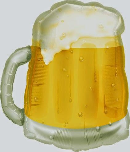 Фольгированный шарик бокал пива