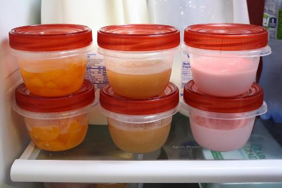 Mommys kitchen recipes from my texas kitchen back to school the kids and i prepared a few cups of yogurt applesauce and fruit look how perfectly they store in the fridge now all they have to do is grab what they forumfinder Images