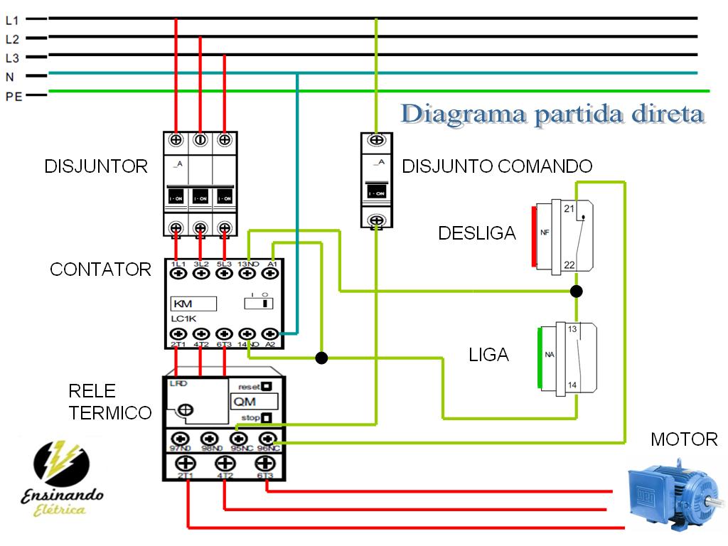 Eletrica Residencial E Industrial  Diagrama Comando Eletrico