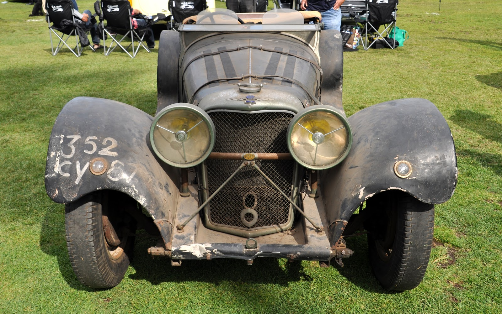1936 Jaguar SS 100, barnfind. It was in a French barn, neglected ...