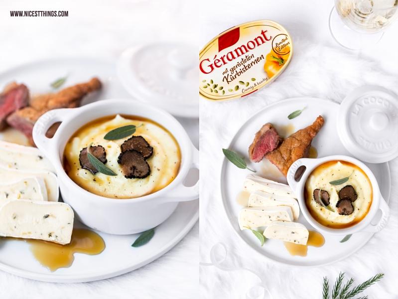 Aligot Trüffel Rezept Géramont geröstete Kürbiskerne