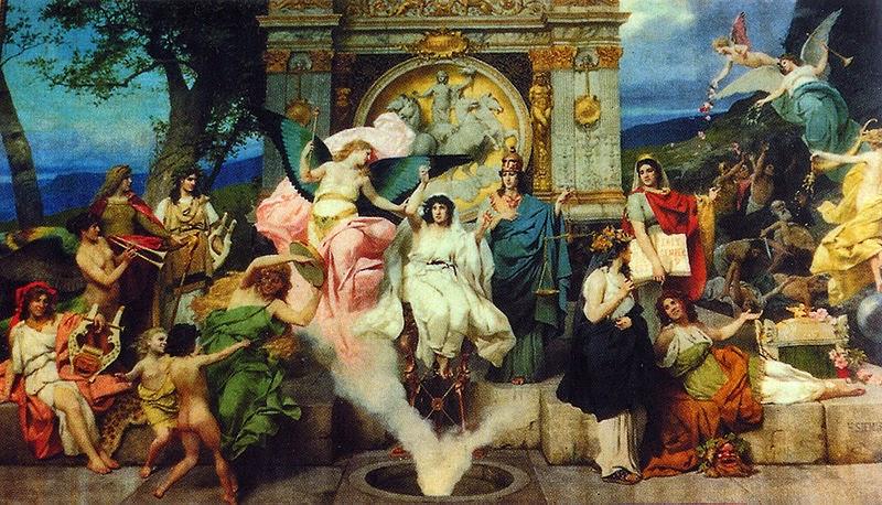 Cortina para o Teatro Lviv de Ópera e Ballet - Henryk Siemiradzki e suas pinturas ~ Polonês