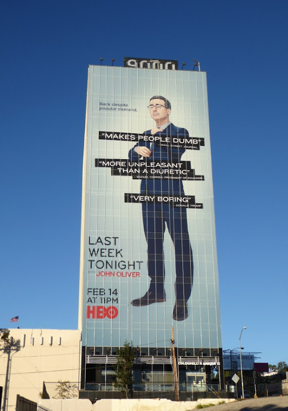 Giant Last Week Tonight season 3 billboard