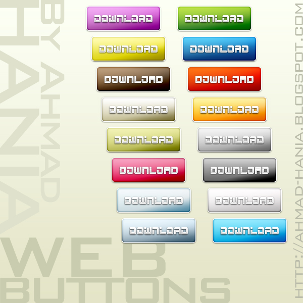 90+ Photoshop Glossy PSD Web Buttons