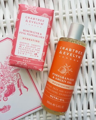 Crabtree & Evelyn Rosewater & Pink Peppercorn Soap and Pomegranate & Argan Oil Nutri-Oil