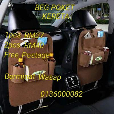 Beg poket kerets Rm27