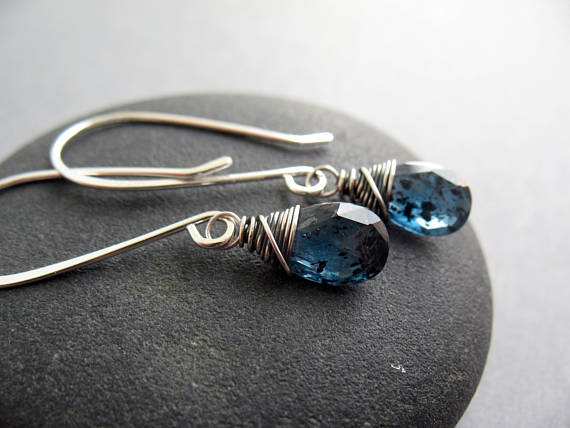 The Kyanite Earrings From Brenda Mcgowan Jewelry Are Truly Breathtaking These Handmade Wire Wred Featuring Gorgeous Deep Teal Blue Stones Will
