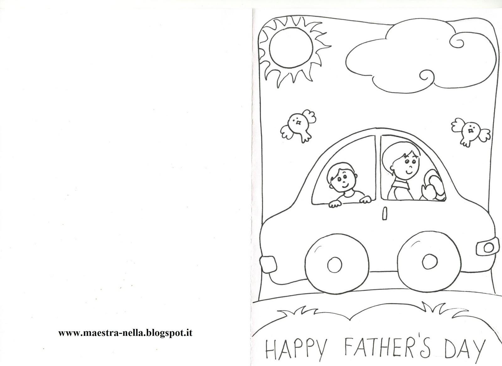 Amato maestra Nella: biglietti da colorare per la festa del papà ZF81