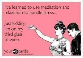 Meditation, relaxation, wine