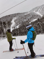 Scoping out the summit terrain from Pine Knot on Saturday, Dec. 14, 2013.  The Saratoga Skier and Hiker, first-hand accounts of adventures in the Adirondacks and beyond, and Gore Mountain ski blog.
