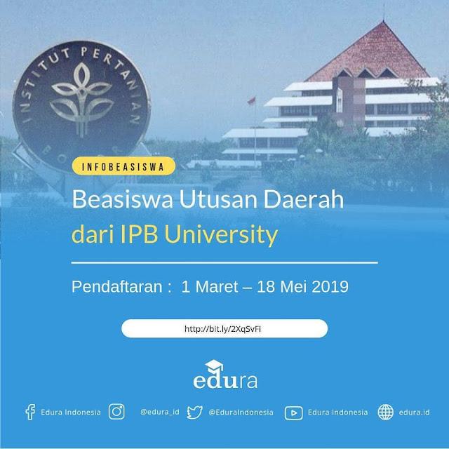 Beasiswa Utusan Daerah Dari IPB University 2019