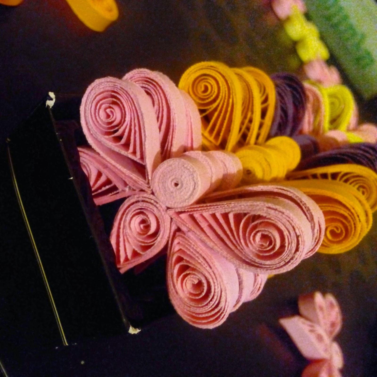 fluturi quilling hartie handmade martisoare magneti circul magic