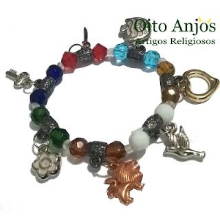 Pulseira Orixás - Semi Joias Orixás-  Oito Anjos Artigos Religiosos e Loja Esotérica
