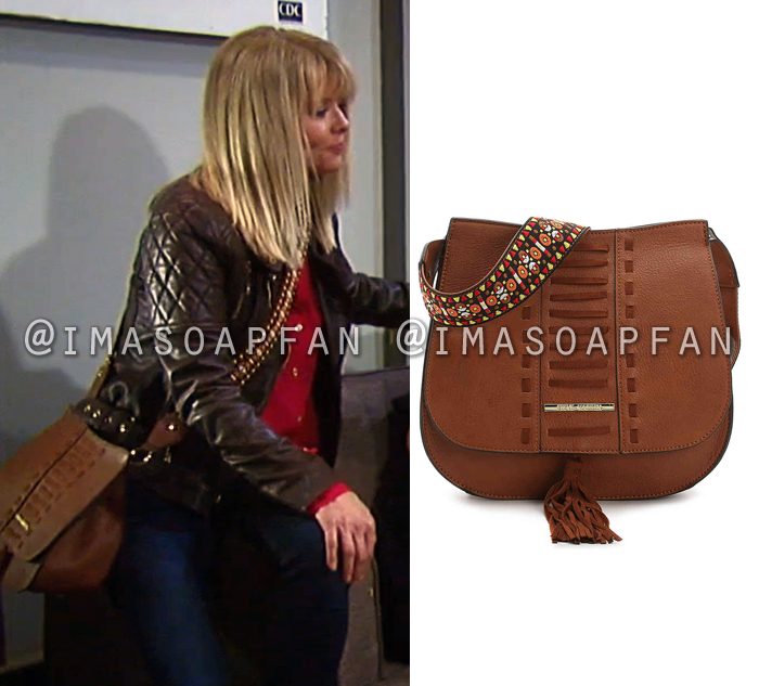 Felicia Scorpio, Kristina Wagner, Brown Crossbody Bag, General Hospital, GH