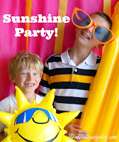 Sun themed birthday party.
